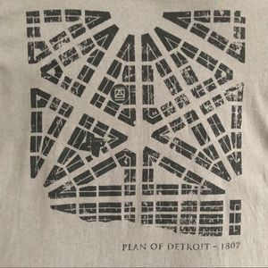 Detroit TShirt Plan Of Detroit 1807 Map Dk Gray L